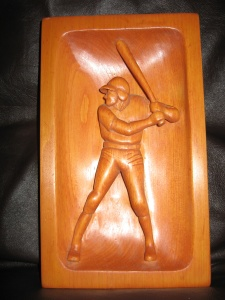 Baseball batter - carving 3