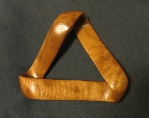 Carved mobius strip