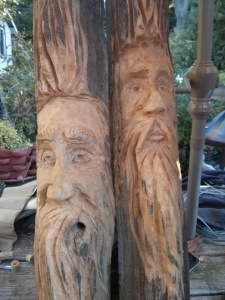 Unfinished wood spirits - September 2014