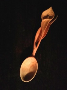Calla lily spoon