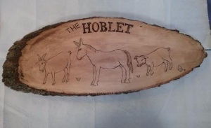 New sign for The Hoblet, March, 2015