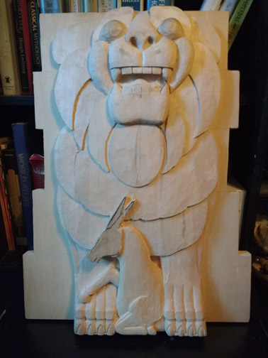 Last Laugh Lion (in progress). November 6, 2016